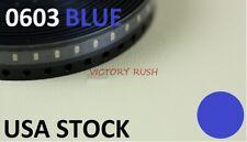 100pcs Blue 0603 Leds Smd Smt Xbox Ultrabright Light Lamp Model Prop Usa