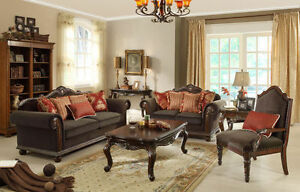 Exquisite Antique Style Victorian Chenille Sofa Couch