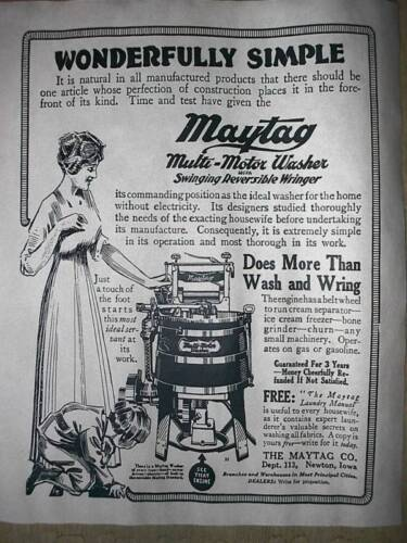 "284L VINTAGE REPRINT ADVERT MAYTAG MOTOR CLOTHES WASHER 11/""x14/"""