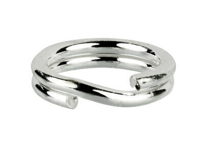 5 STRONG SOLID STERLING .925 SILVER 5MM SPLIT JUMP RINGS LINK CHARM TO BRACELET