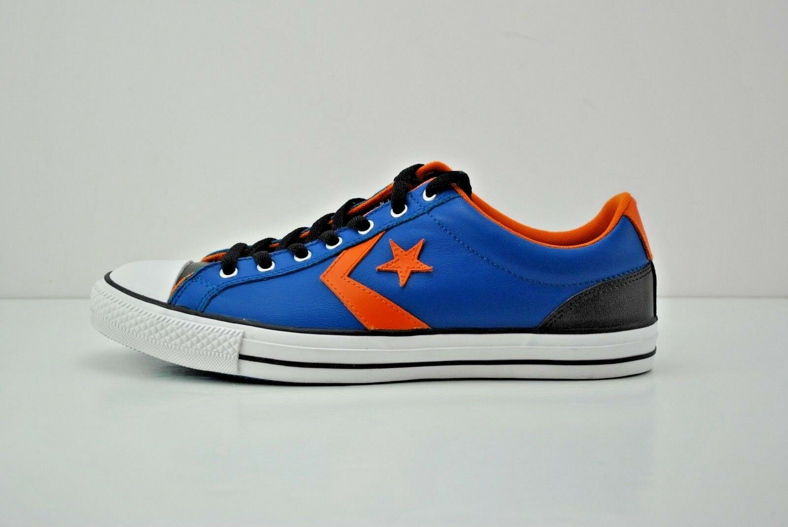 Mens Converse Chuck Taylor All Star Low shoes Size 10 bluee orange White 139868C