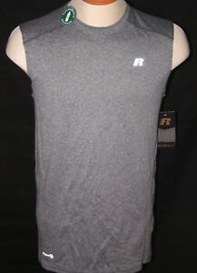 dc1250d6446169 RUSSELL ATHLETIC MEN S DRY POWER 360 MUSCLE TEE TANK TOP - GREY ...
