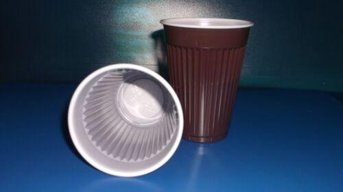 50 Stück Thermobecher Kaffeebecher,180 ml Automatenbecher,braun//weiß