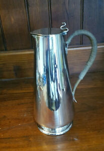 Antique Sheffield Silver Plated Arts & Crafts Style SIlver Plated Lidded Jug