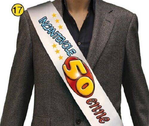 FASCIA PREMIAZIONE 50 ANNI INCANTEVOLE 50ENNE 21999 COMPLEANNO PARTY MISS PARTY