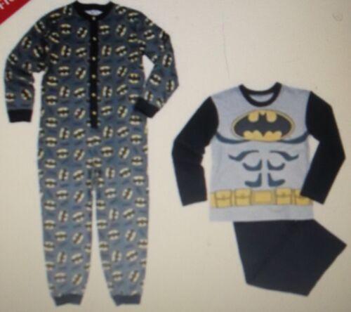 NUOVO Ragazzo due Pack Batman Lungo Pigiama Pjs e All in One 8 a 9 anni