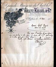 "MONTLUCON (03) GRANDE BRASSERIE du CHATELET ""WELTZ & KISSEL"" en 1908"