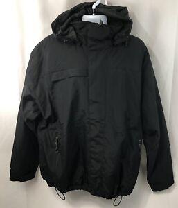 Port-Authority-Mens-Sz-XL-Nootka-Jacket-Waterproof-Zip-Off-Hood-Coat-J792