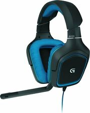 Logitech G430 Surround Sound Gaming Headset Black Blue Used