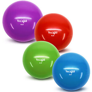 Yes4all-Fitness-Premium-Soft-Toning-Ball-Yoga-Exercise-Therapy-Workout-Weighted