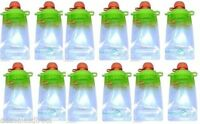 Reusable Baby Food Squeeze Pouches Snacks & Drink Bpa Free Choose Your Pack