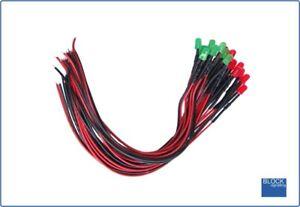 Rationnel Blocksignalling 5mm Pre Wired Led Pack 5v To 12v Dc (8x Red 8x Green) Leds Renforcement Des Nerfs Et Des Os