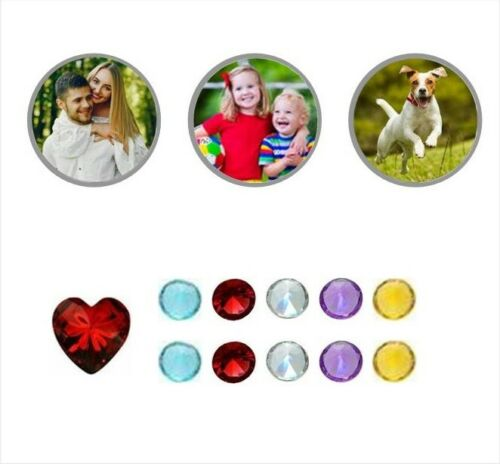 12-14pcs YOUR OWN PHOTO Personalised Custom Living Memory Floating Locket Charms
