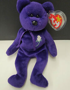Ty Beanie Baby Princess Bear Diana mint condition 1997 retired