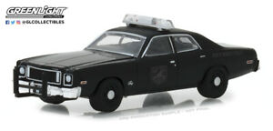 "1975 Plymouth Fury  POLICE Custom /"" BLACK BANDIT  *** Greenlight 1:64  **SALE**"
