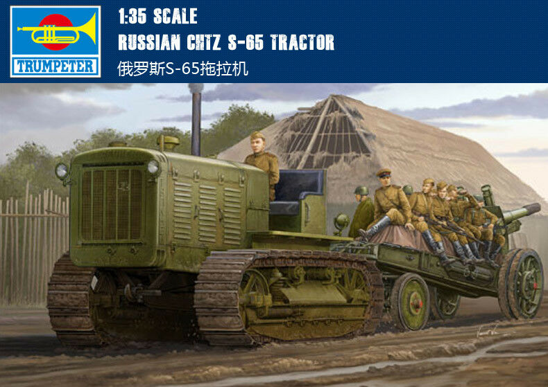 Trumpeter Scale Russian ChTZ S-65 Tractor Tank Armored 1 35 Car Model Kit 05538