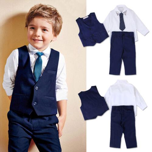 Cute Toddler Kids Baby Boys Gentleman Coat Shirt Denim Pants Clothes Outfits Set