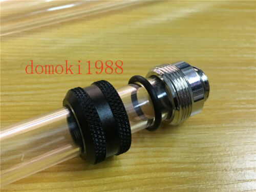 Olike 2017 14MM G1//4 coupling fitting OD 14MM Rigid tubing water cooling Black