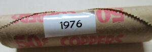 Roll-of-1976-Canada-Small-Cents-UNC-RED-50-1-Penny-Canadian-Coins-R136