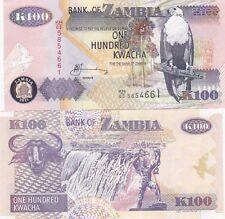 ZAMBIA BANCONOTA 100 KWACHA MAI CIRCOLATA