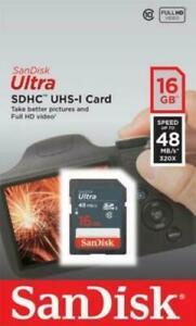 SanDisk Ultra 16GB Class 10 MicroSDHC Memory Card - SDSDUNB016GGN3IN