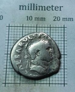 Original-Antique-Coin-SILVER-Vespasian-ROMAN-DENARIUS-AD-69-79-0629