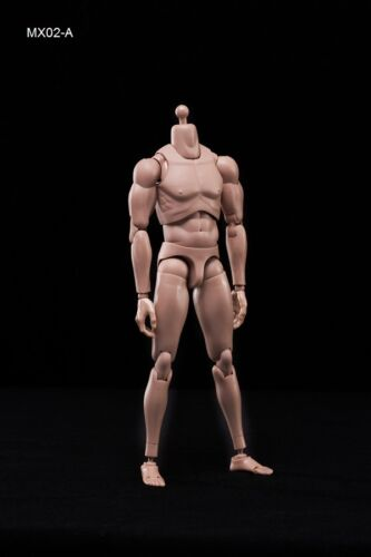 In-Stock 1//6 Action Figure Male Body Caucasian Skin MX02-A 2.0 BW//O Neck