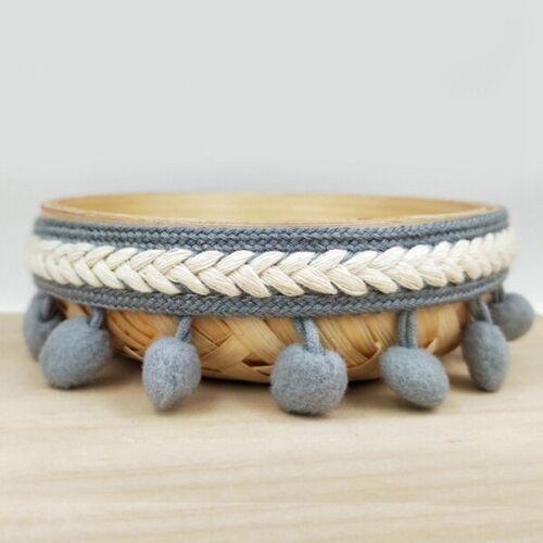 3Yard//Set Embroidered Trim Ribbon 1.2CM Pom Pom Ball Fringe Ribbon Crafts DIY