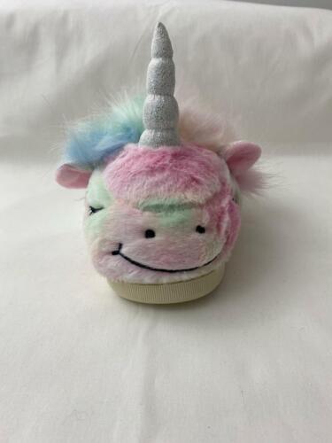 Girls Kids Unicorn Slippers 3D Novelty Warm Cosy Fur