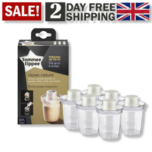 Tommee Tippee Milk Powder Dispensers Perfect Feeding Portion Powder Storage x 6