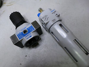 "FESTO - REGULTATOR and LUBRICTOR - 1/8"" Ports METAL BODY - LOE-DMINI + LR-D-MINI"