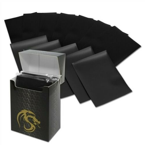 Pack of 80 Boxed BCW Black Matte Deck Guards MTG CCG Gaming Card Sleeves pokemon