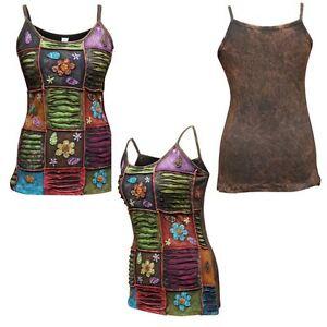 Multicolored-Stonewashed-Sleeveless-Hippy-Women-Tank-Tops-Boho-Festival-vest