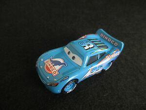 Disney-Pixar-Cars-Blue-Dinoco-Lightning-Mcqueen-1-55-Diecast-No-Box