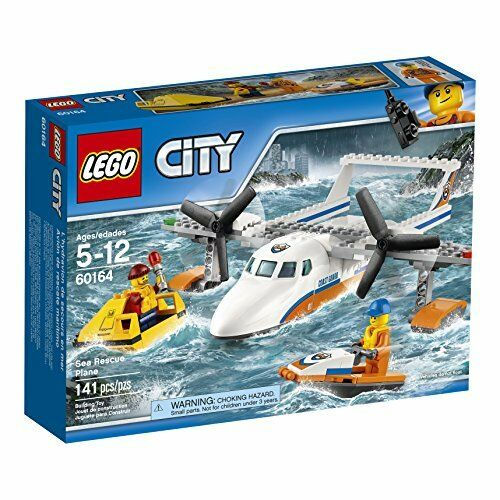 NEW LEGO City Coast Guard Sea Rescue Plane 60164 Building Kit 141 Piece