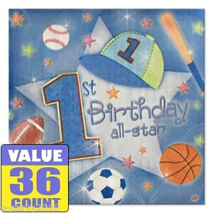 Incredible 1St Birthday All Star Small Napkins 36 First Party Supplies Funny Birthday Cards Online Bapapcheapnameinfo