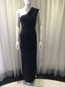 a7c2dff0e953a Image is loading Herve-Leger-Gown-Asymetric-Black-M
