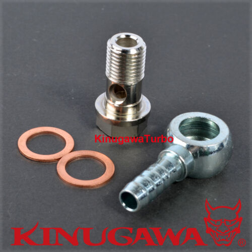 """Turbo Water coolant M14x1.5 mm Banjo Pipe with 1//4/"""" Barb"""