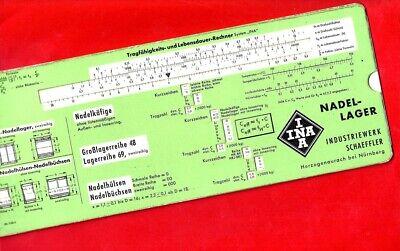 Aufrichtig (82) Rechenschieber Iwa 5143 Formelrechner Datenschieber Ina Nadellager Ca. 1970 Hoher Standard In QualitäT Und Hygiene
