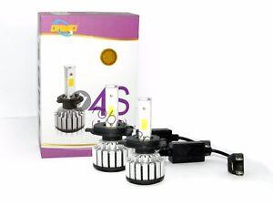 COPPIA-LAMPADE-A-LED-H4-FARI-RICAMBIO-AUTO-45W-ALTA-LUMINOSITA-039-BIANCO-FREDDO-4S