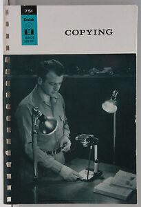 Kodak Advanced Data Book Copying 1962 M-1 Promo - English - USED B109D