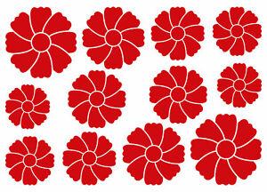 Details Zu Blumen Aufkleber Deko Sticker Blume Flower Möbel Wandtattoo Spiegel Fenster Glas