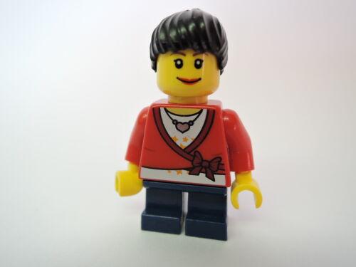 LEGO Figur City Mädchen roter Pullover Pferdeschwanz kurze Beine cty193 2824