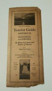 Vintage Travel Brochure 1921 Virginia Tourist Gude & Map Advertising Antique
