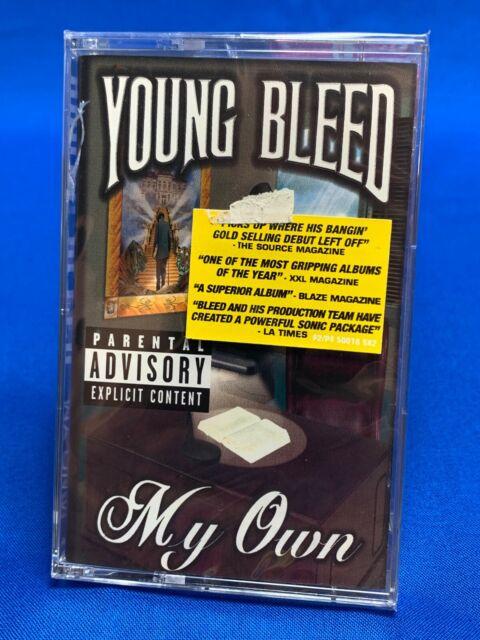 Young Bleed – My Own   Cassette Tape Album 1999 Hype Sticker Gangsta Rap SEALED