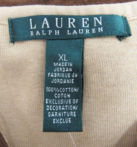 braun 44 3 neu gr Ralph 4 damen Mit Tags Lauren usa shirt xl arm waOTqzw
