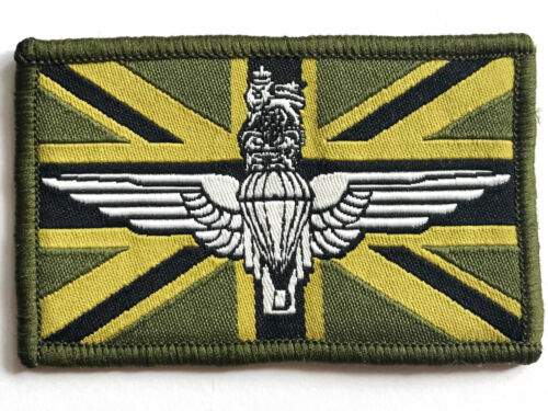 UNION JACK CLOTH PATCH Great Britain Para/'s sew on soldier flag badge army olive