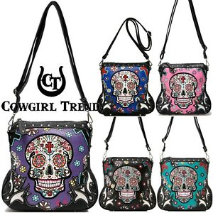 Details About Day Of The Dead Cross Body Handbags Women Purse Sugar Skull Single Shoulder Bags