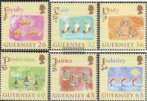 GB-Guernsey-1012A-1017A-kompl-Ausg-postfrisch-2004-Britische-Krone