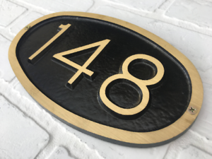 d2adda8773d6 Address Plaque: Brass Small Oval House Number Plaque 10 3/4